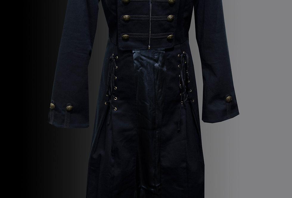 Black Full Length Gothic Coat