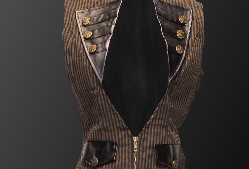 Stunning Gothic Steampunk Cotton Fabric Vest