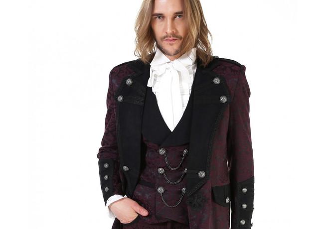Burgundy Red Frock Coat