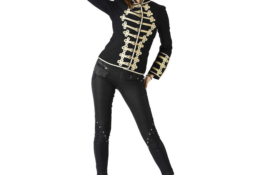 Napoleonic Hussar Military style Steampunk Jacket For Women