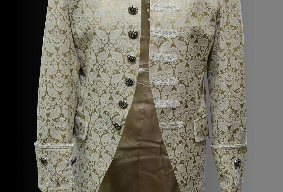 Gothic Steampunk Brocade Frock Coat