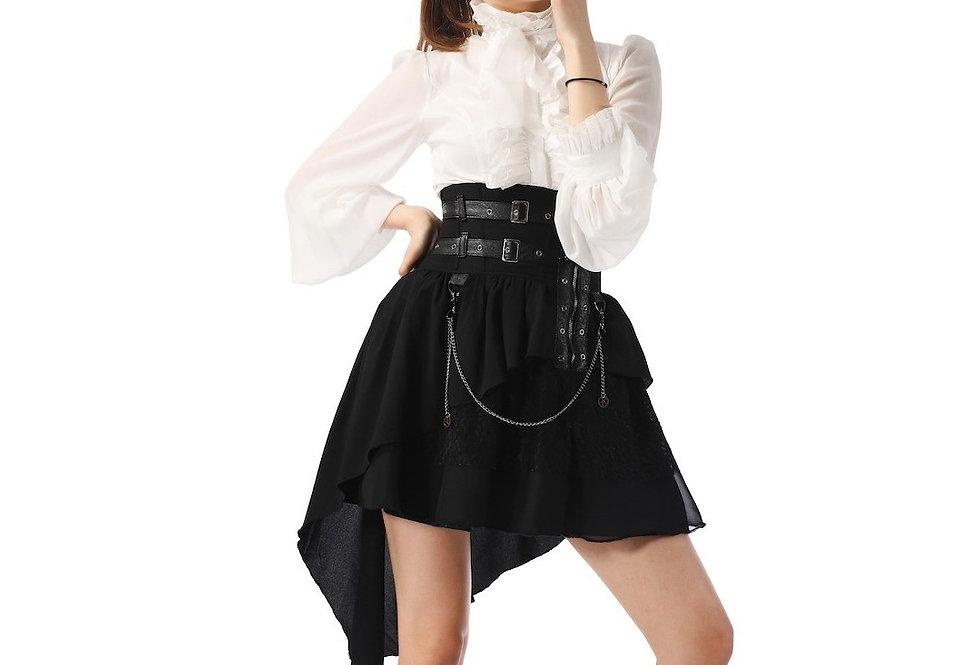 Beautiful Asymmetrical Gothic Steampunk Corset Skirt