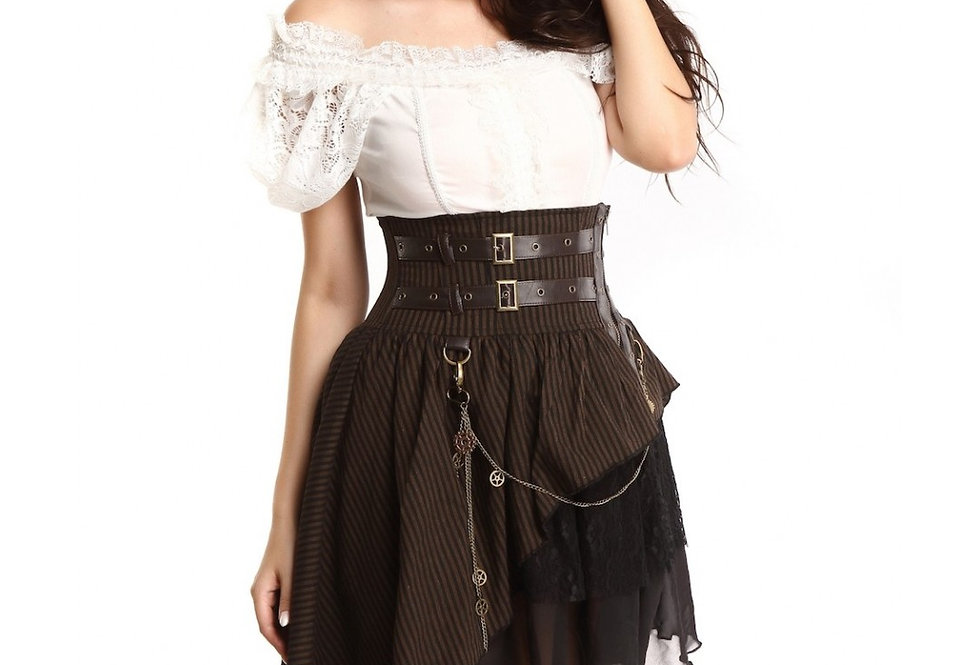 Gorgeous steampunk asymmetric short skirt