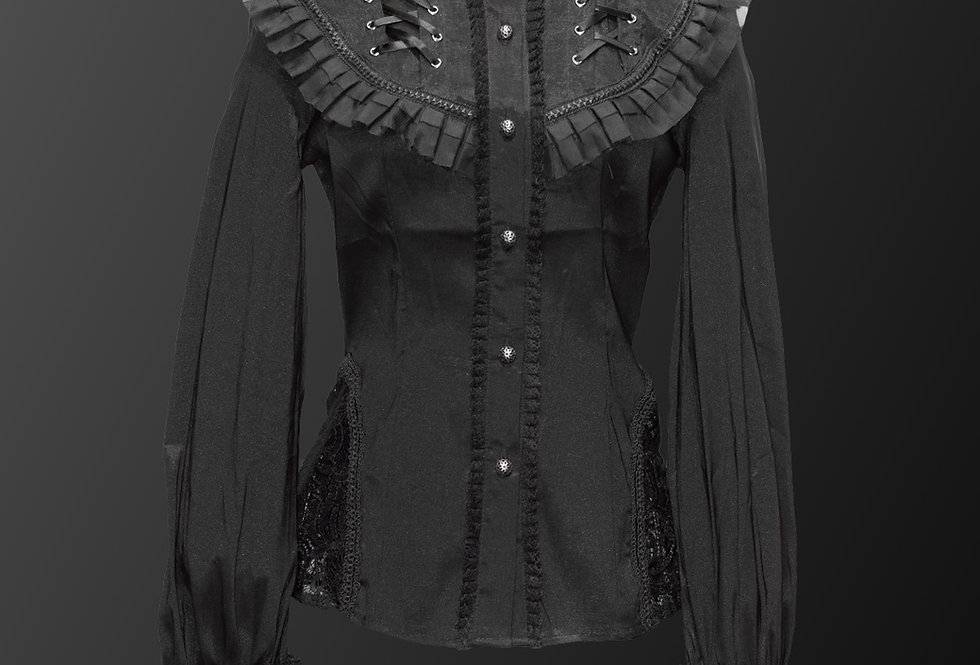 Gorgeous Gothic Lolita Style Victorian Blouse