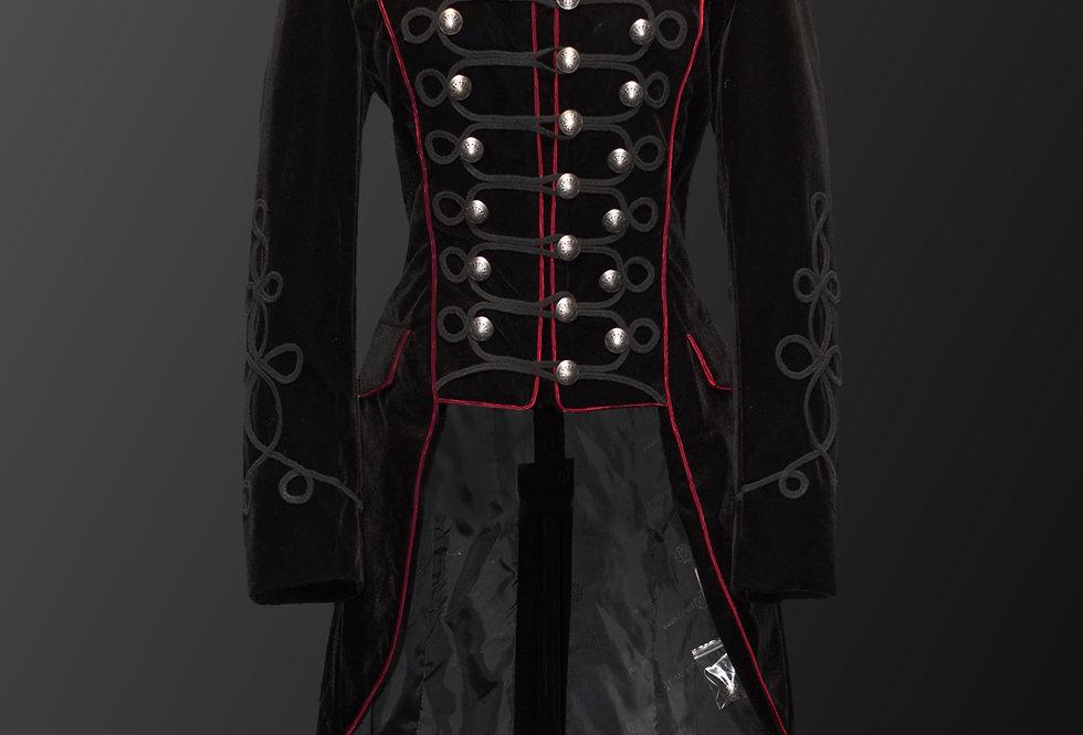 Military Steampunk Style Velvet Coat