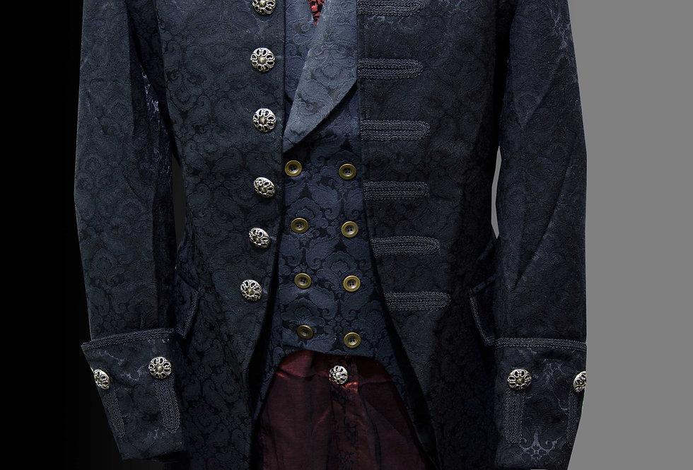 Aristocratic Gothic Steampunk Brocade Frock Coat