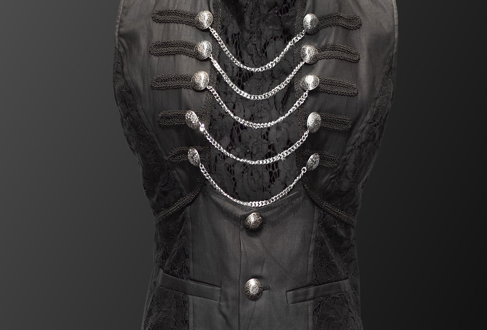 Beautiful Stretchy Fabric Gothic Steampunk Vest