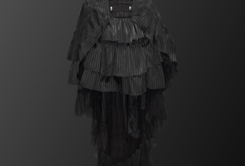 Beautiful Gothic Steampunk Cascading Lace Fabric Corset Skirt
