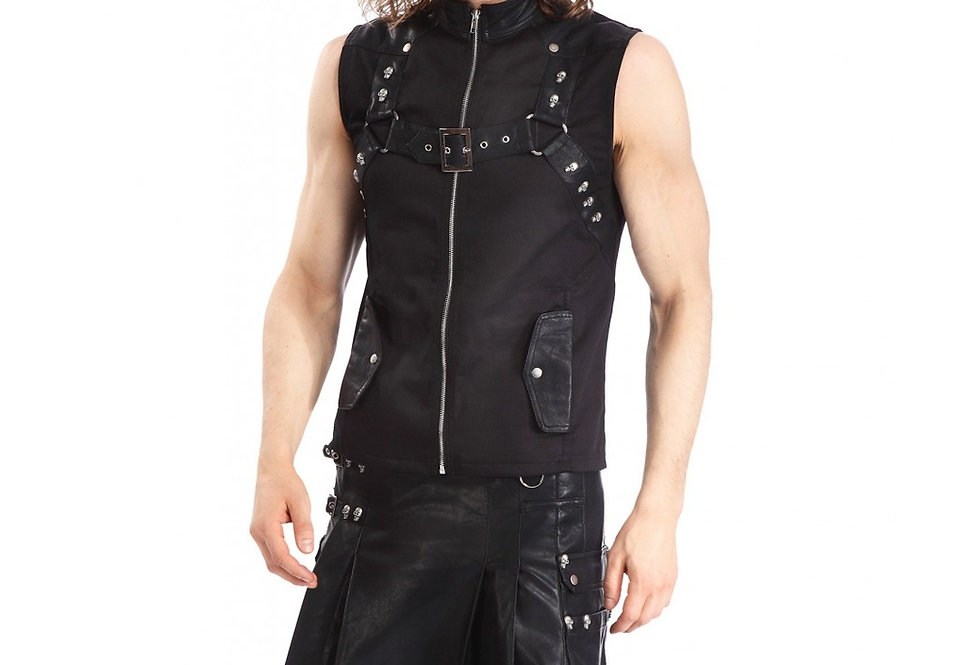 Stunning Faux Leather Steampunk Gothic kilt