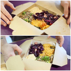 Vegan salad boxes