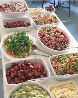 Buffet style salads