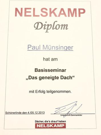 Nelskamp Diplom