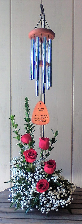 Memorial Chime with Fresh Flowers 1103-476