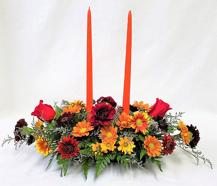 Thanksgiving Centerpiece Lg with Candles   1103-181