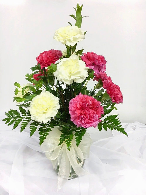 Mixed Carnations with Mixed Greenery 1103-034