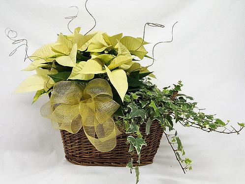 Happy Holiday Poinsettia Basket 1103-203