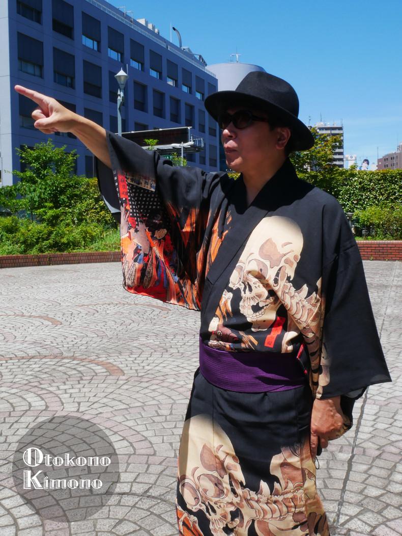 男の着物ストリートスナップin銀座 7/7