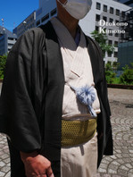 男の着物ストリートスナップin銀座 4/7