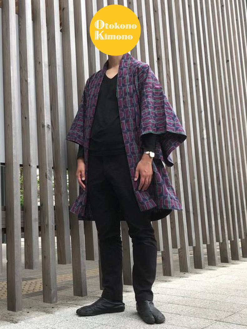 Hジャケットの和洋Mixコーデ