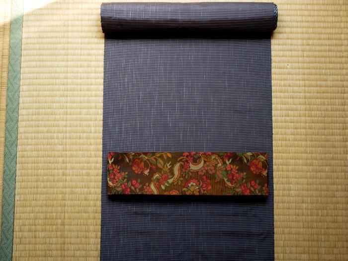 縞格子 大島紬(税込み・送料別)