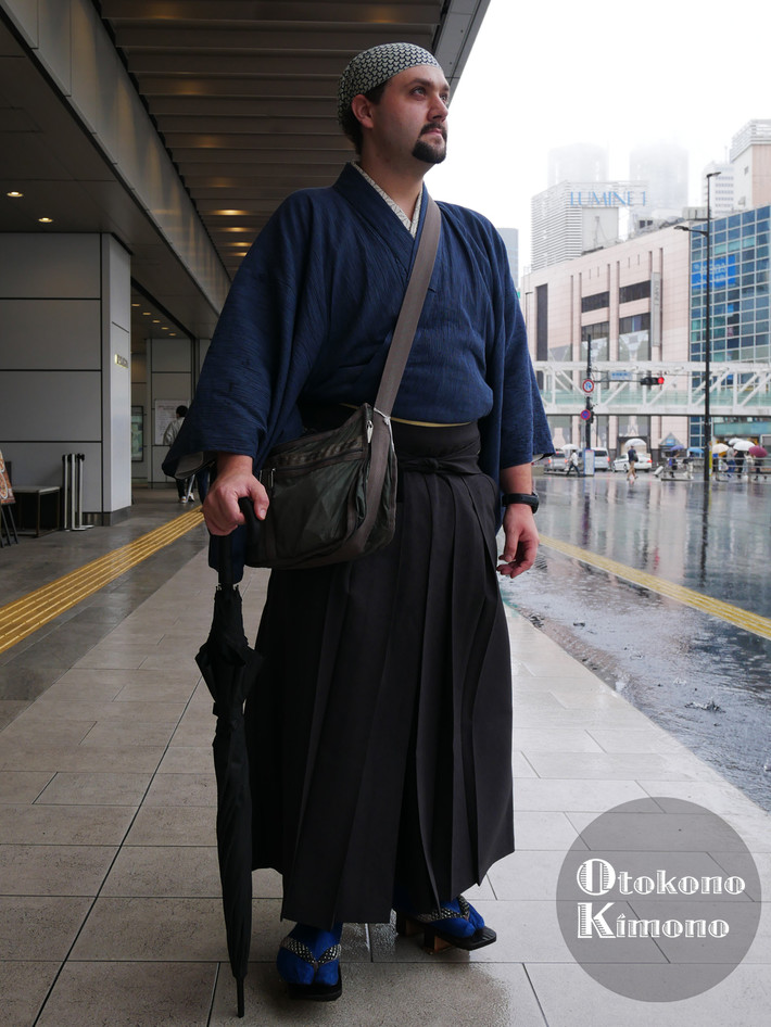 男の着物ストリートスナップin新宿