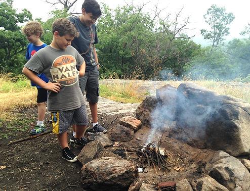 boys start a fire