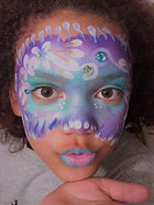 Pittsburgh Beanie Paints Mermaid face paint for kid parties