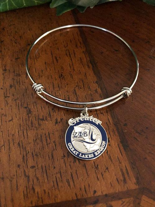 Zeta Great Lakes Region Bangle Bracelet