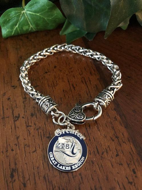 Zeta Great Lakes Region Lobster Claw Bracelet