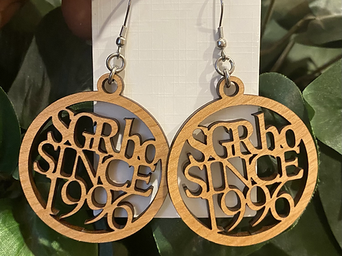 SGRho Since Wood Earrings -2 inches