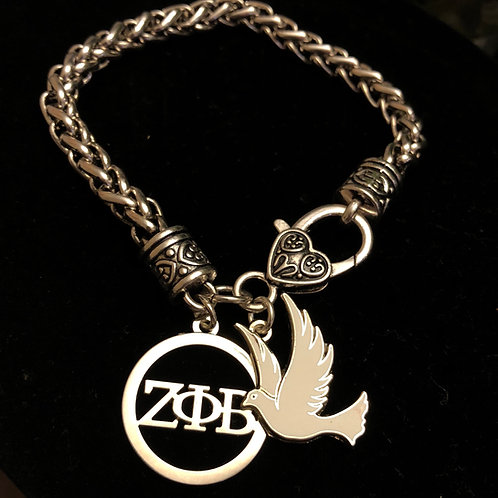 Zeta LTR and Dove Lobster Claw Bracelet