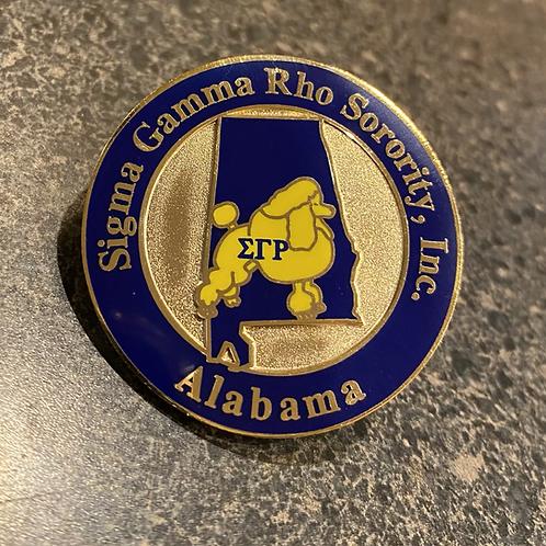 Sigma Gamma Rho Alabama Lapel Pin