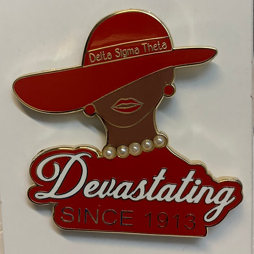 Delta Devastating Diva Lapel Pin