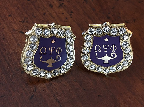 Omega Psi Phi Inside Shield Cufflinks