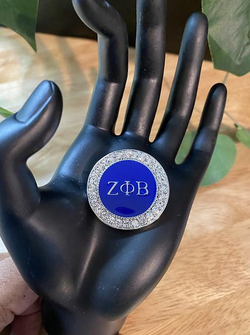 Zeta Crystal  Lapel Pin