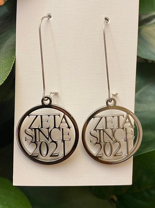 Zeta Since 2021 Stainless Earrings