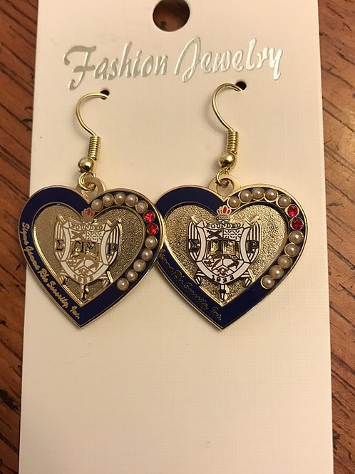 Sigma Gamma Rho Heart Shield Earrings