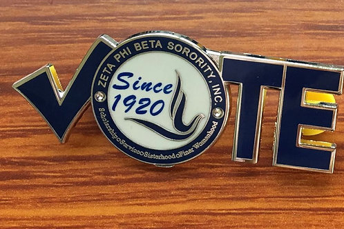 PREORDER...ZETA VOTE lapel pin