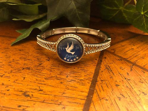 Zeta crystal stretch snap bracelet