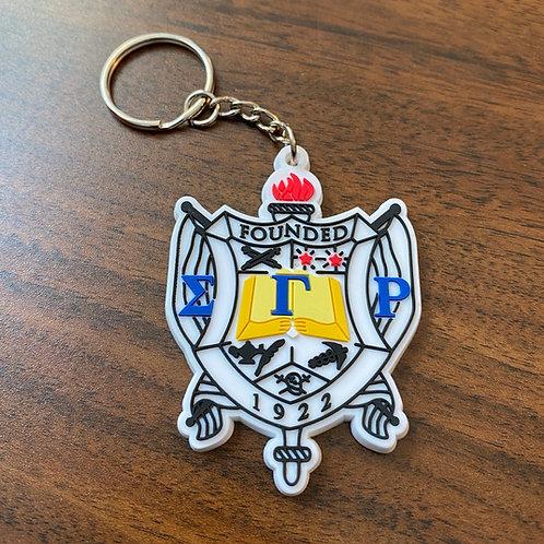Sigma Gamma Rho Shield Keychain