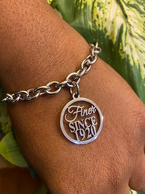 Finer Since 1920 Stainless Link Bracelet
