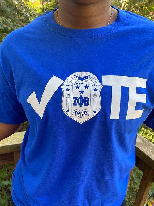 Check Shield Vote T-Shirt