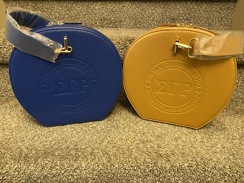 SGRho Faux Leather Round Canteen Purse