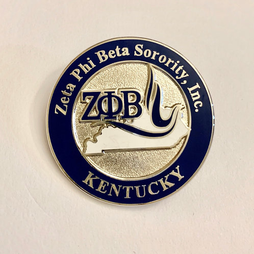 Zeta Phi Beta Kentucky Lapel Pin