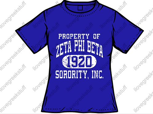 Crackled Version Property of Zeta Phi Beta Sorority, Inc.