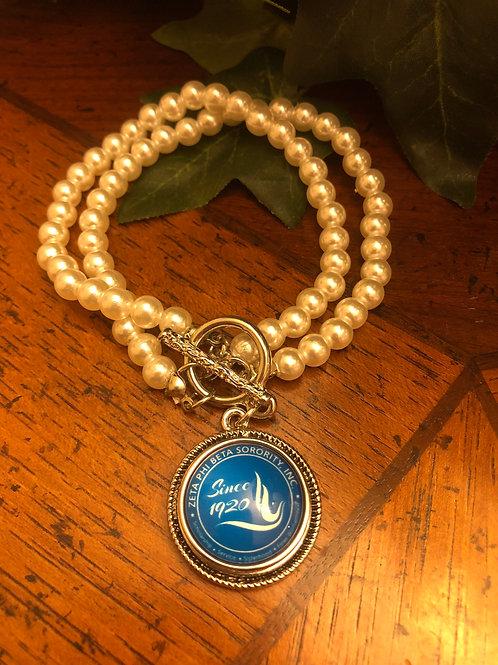 Zeta Pearl Snap Bracelet
