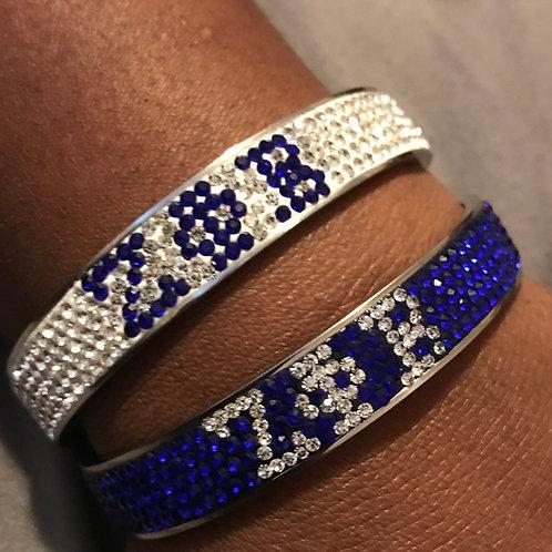 Zeta Phi Beta Crystal Bracelet