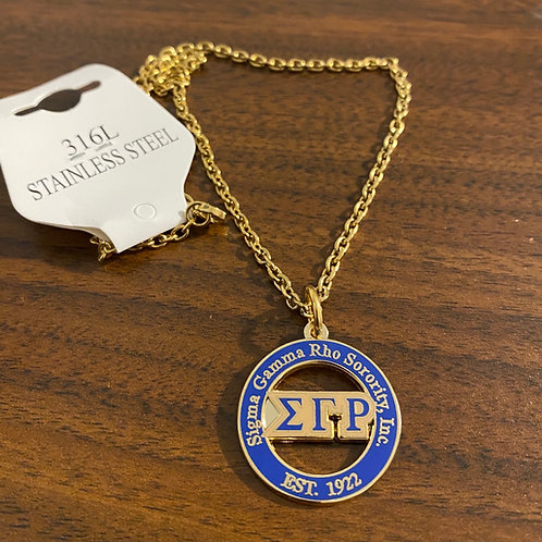 Sigma Gamma Rho Letter Necklace