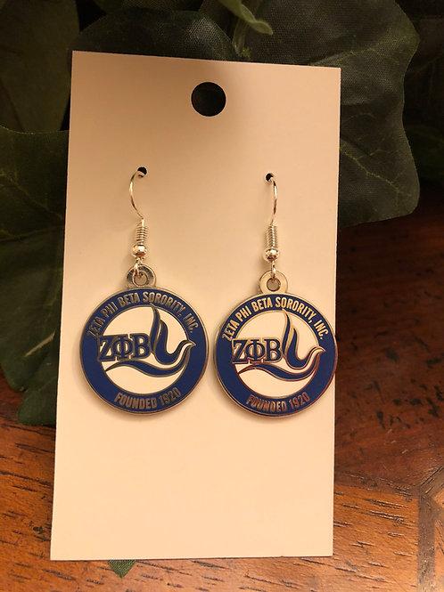 Zeta Phi Beta New Logo Earrings