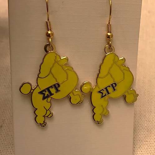 Sigma Gamma Rho Poodle Earrings